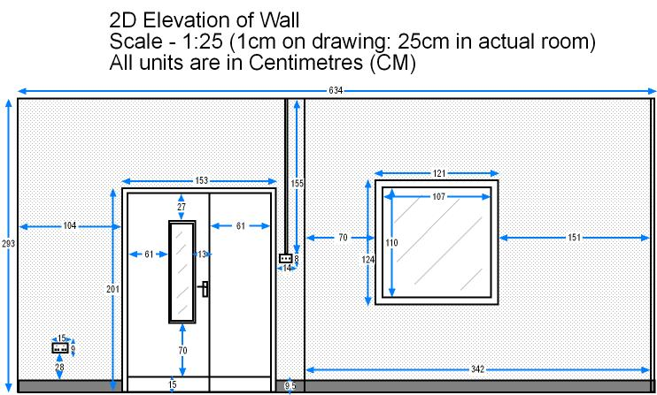 Wall elevation page for Window elevation